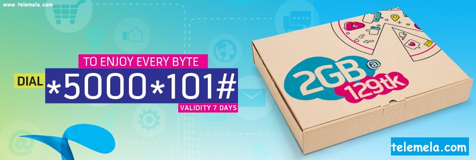 Grameenphone 2GB Internet Pack at 129Tk Validity 7Days