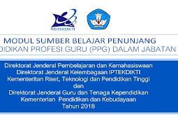 PPGJ 2018 - Download Modul Sumber Belajar Penunjang PPG dalam Jabatan 2018 Mata Pelajaran Guru Kelas Sekolah Dasar (SD)