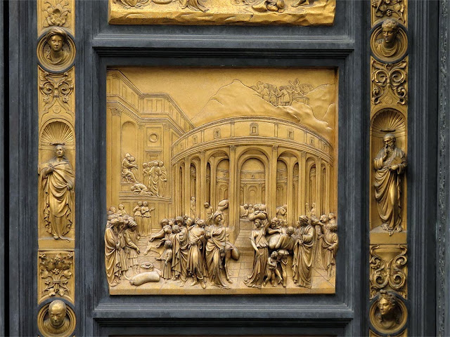 Joseph, copy of the original bronze panel of the Gates of Paradise by Lorenzo Ghiberti, Baptistry of Saint John, Florence