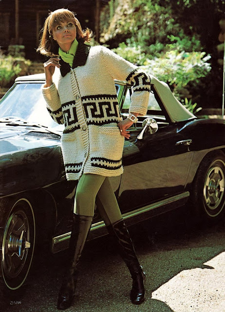 The Vintage Pattern Files: 1960s Free Knitting Pattern - Women's 'Grand Prix' Car Coat