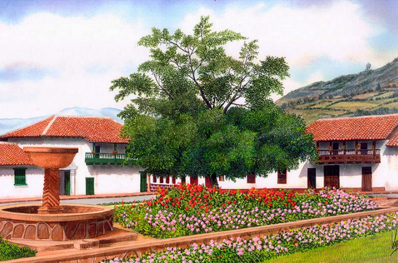 Imágenes Arte Pinturas: Cuadros de Paisajes de Pueblos, Pintor José ...