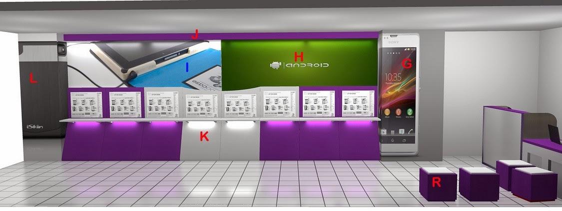 Desain Etalase - Commercial Display Toko Handphone 02