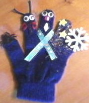 How to Recycle your lost glove and make a Penguin finger puppet show
