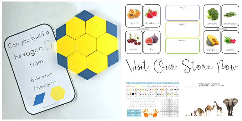 Ready to print resources for playful learning at home or in the classroom | you clever monkey