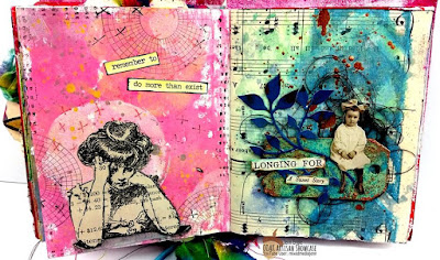 Jenn Engle Mixed Media Art Journal Page OOAK Artisans