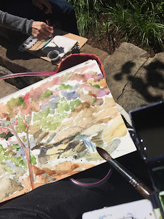 watercolors, ArtbyErika, Erika Nelson, plein air