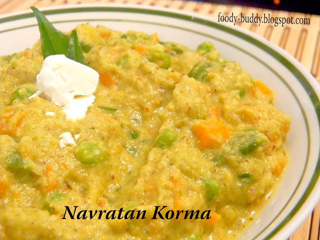 Foody - Buddy: Navratan Korma Recipe