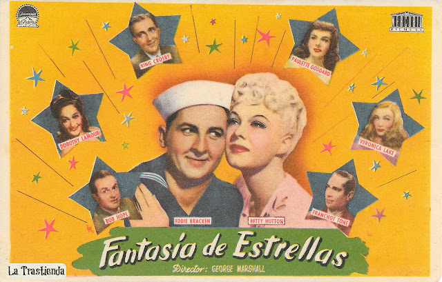 Programa de Cine - Fantasía de Estrellas - Betty Hutton, Bing Crosby, Bob Hope, Veronica Lake, Dorothy Lamour, Fred MacMurray, Paulette Goddard