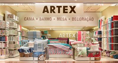6d9ade6e8 Com a inauguração das lojas próprias a ARTEX também aumentou sua linha de  produtos: Cama (englobam jogos completos, lençóis, fronhas avulsas,  edredons, ...