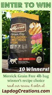 Merrick dog food giveaway