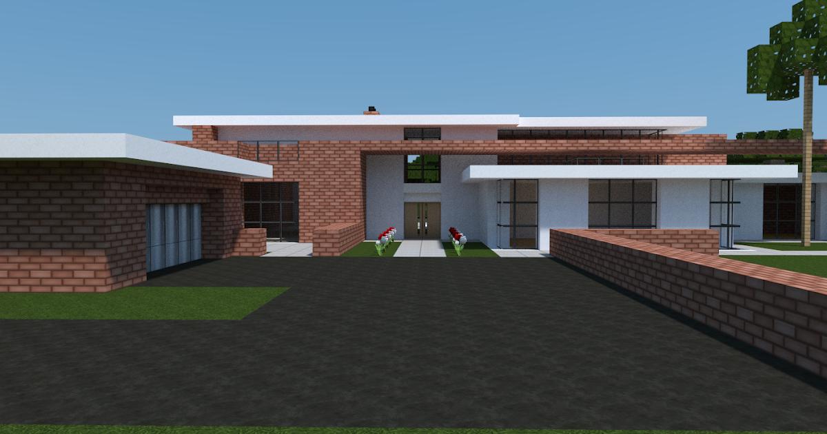 Minecraft Constructor Plan D Une Maison Contemporaine