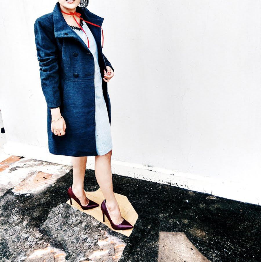 Mango maroon heel,style blogger
