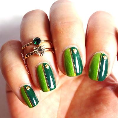 Green Gradients Nail Art