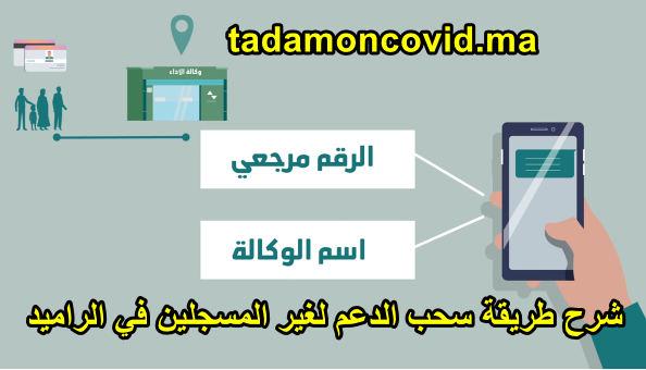 طريقة سحب المساعدة المالية لغير المتوفرين على الرميد والمسجلين في tadamoncovid.ma