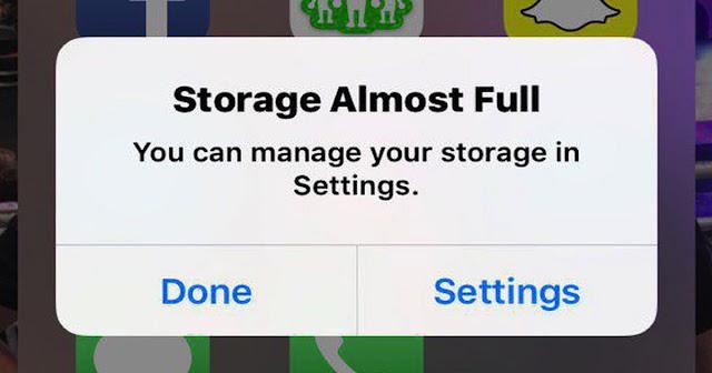Espacio-de-almacenamiento-casi-lleno With this trick you can take photos even when the iPhone is full Technology
