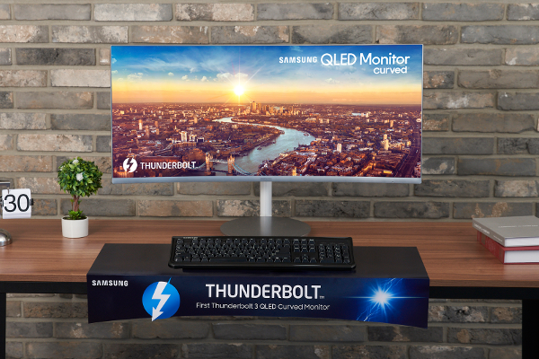 IFA 2018: SAMSUNG announces CJ79 (C34J791) QLED curved monitor, World's first to feature Intel's Thunderbolt 3 connectivity