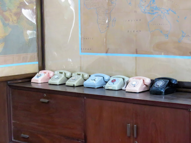 Vietnam War era phones in the bunker at the Reunification Palace in Ho Chi Minh City