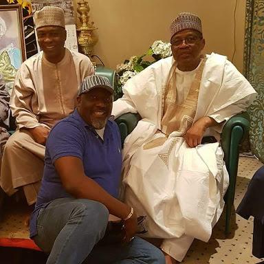 Saraki and Dino Melaye Visit Ibrahim Babangida In Minna