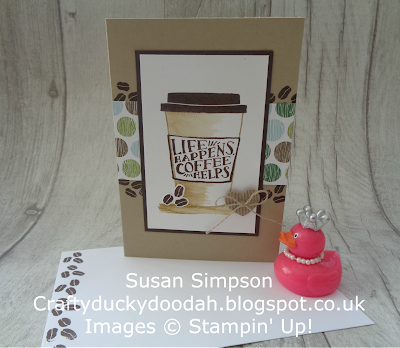 Craftyduckydoodah!, Coffee Cafe, Coffee & Cards project April 2018, Stampin' Up! UK Independent  Demonstrator Susan Simpson, #stampinupuk, #lovemyjob, Supplies available 24/7 from my online store,