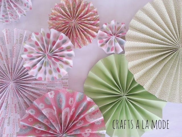 pretty paper folded in circles
