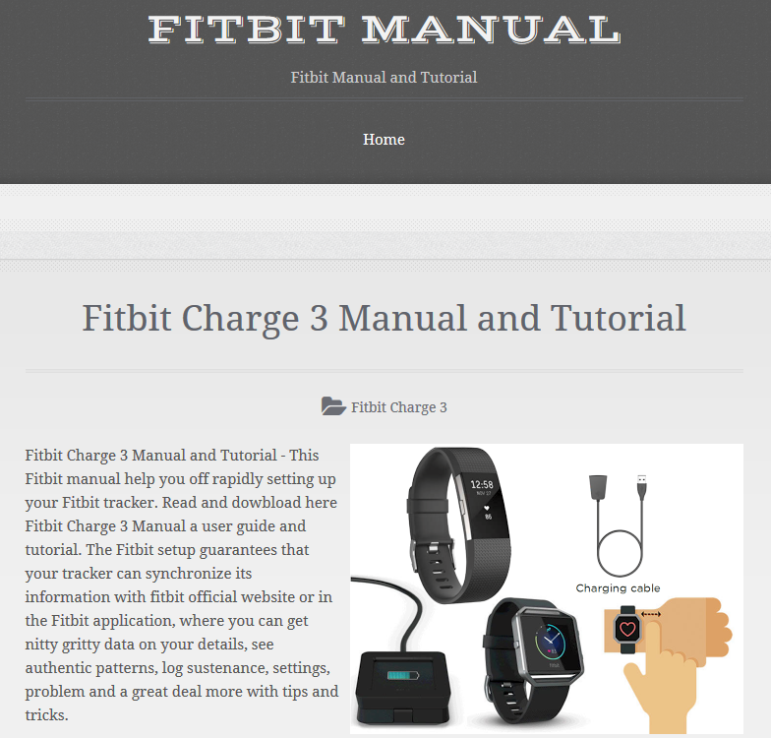 Fitbit Charge 3 Manual PDF