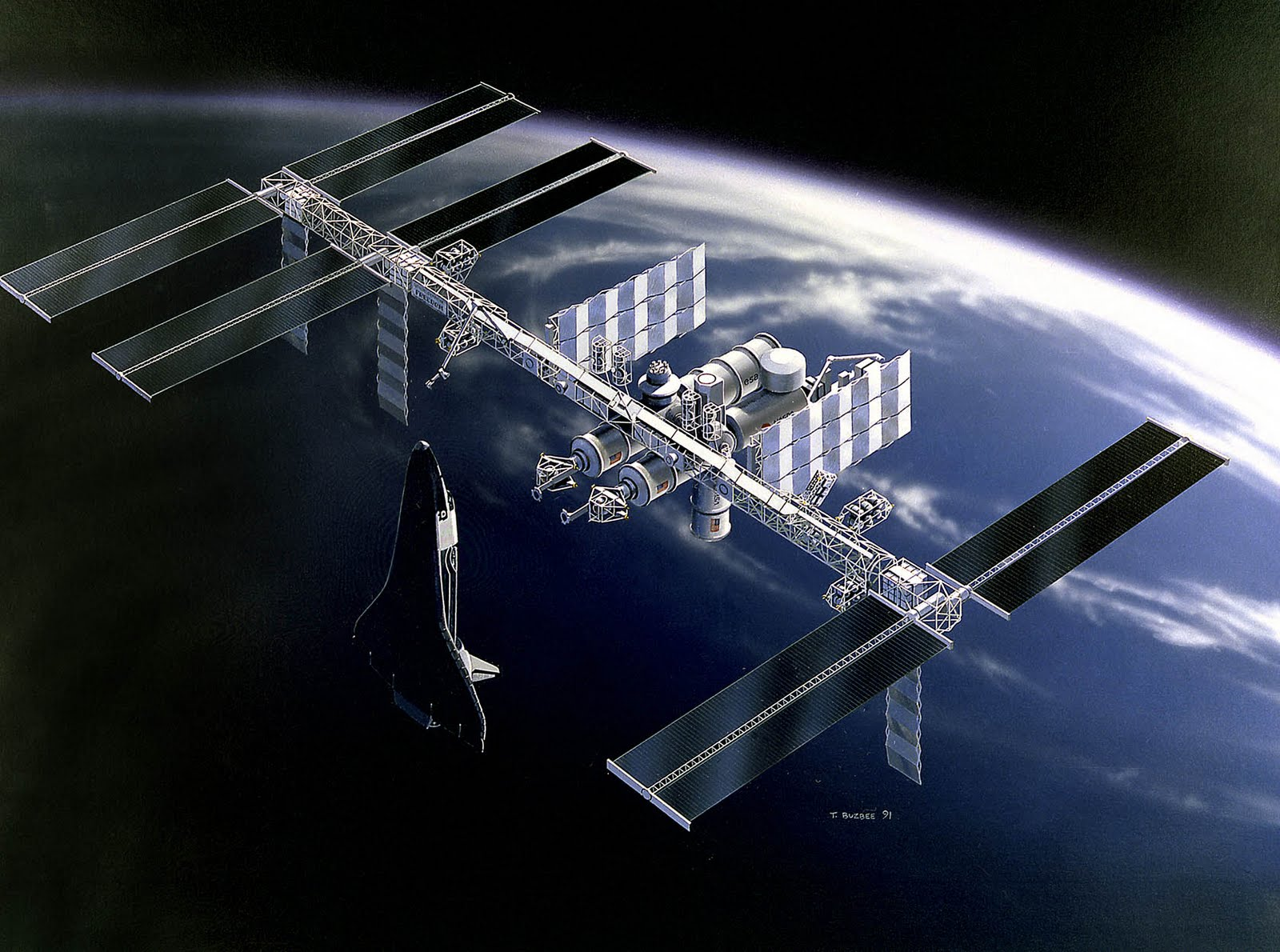 Free wallpapers international space station wallpaper - Space station wallpaper ...