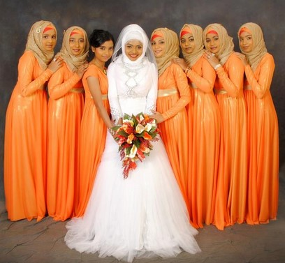 bridesmaid dress hijab