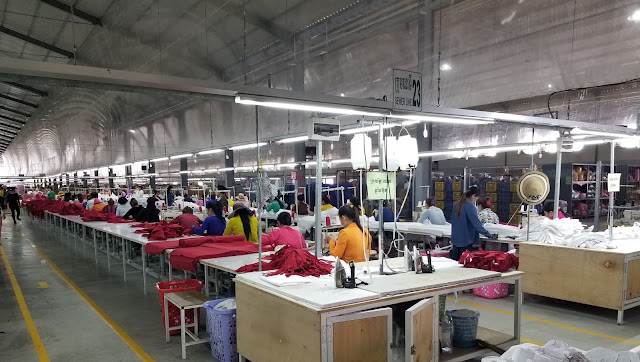Cambodian garment factory