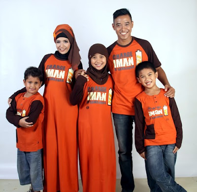 Baju Kaos Muslim Seragam Keluarga Modern