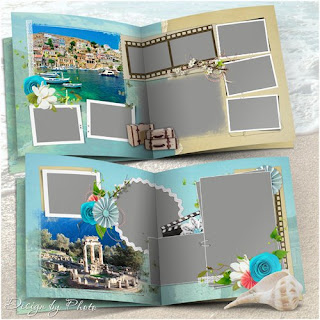Free Travel Photo book 5 psd template - Grécia