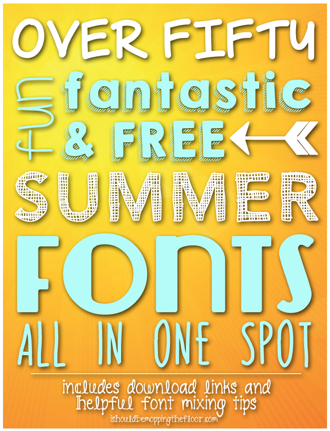 My 25 Favorite Free Chalk Fonts | i should be mopping the floor