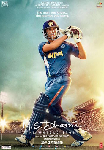 MS Dhoni The Untold Story 2016 Hindi 720p BluRay 1.5GB