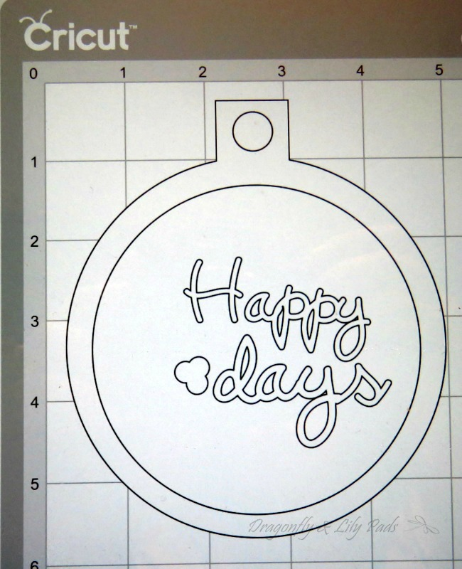 Beginning to design Happy Holidays Christmas Ornament