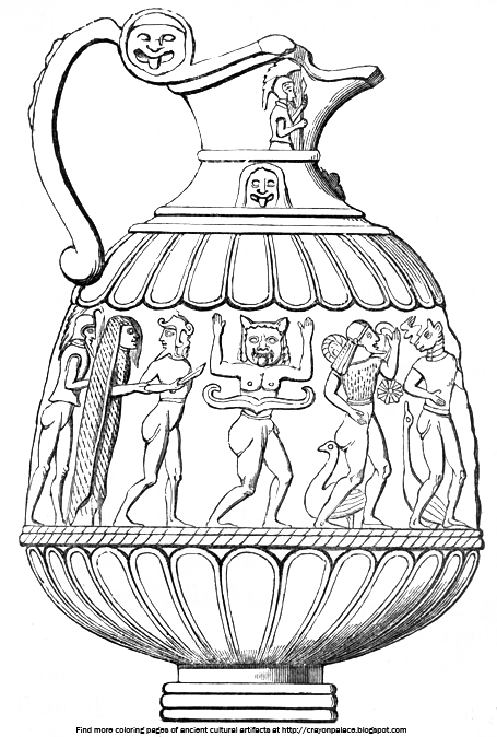ancient greek art sculpture coloring pages | Coloring Sheets of Sculpted Figures on Greek Pottery ...