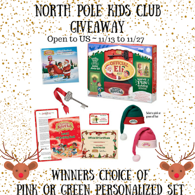 Enter the  North Pole Kids Club Giveaway. Ends 11/27
