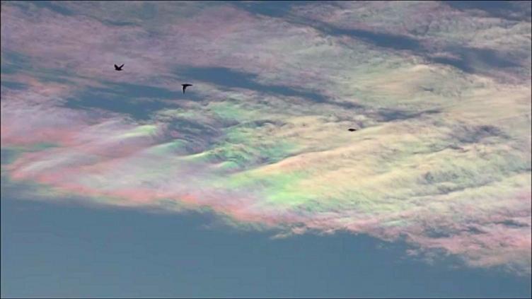 Chmury iryzujące nad Rybnikiem