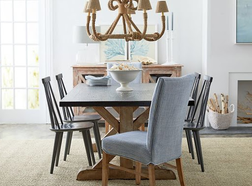 Sea Inspired Nautical Coastal Dining Room from One King Lane