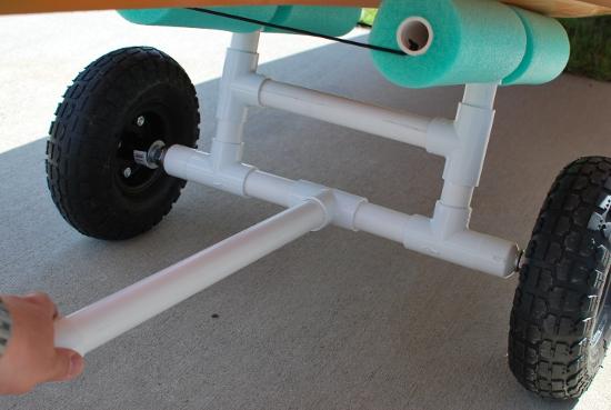 Palmetto kayak fishing diy bulletproof kayak cart build for Outboard motor dolly harbor freight