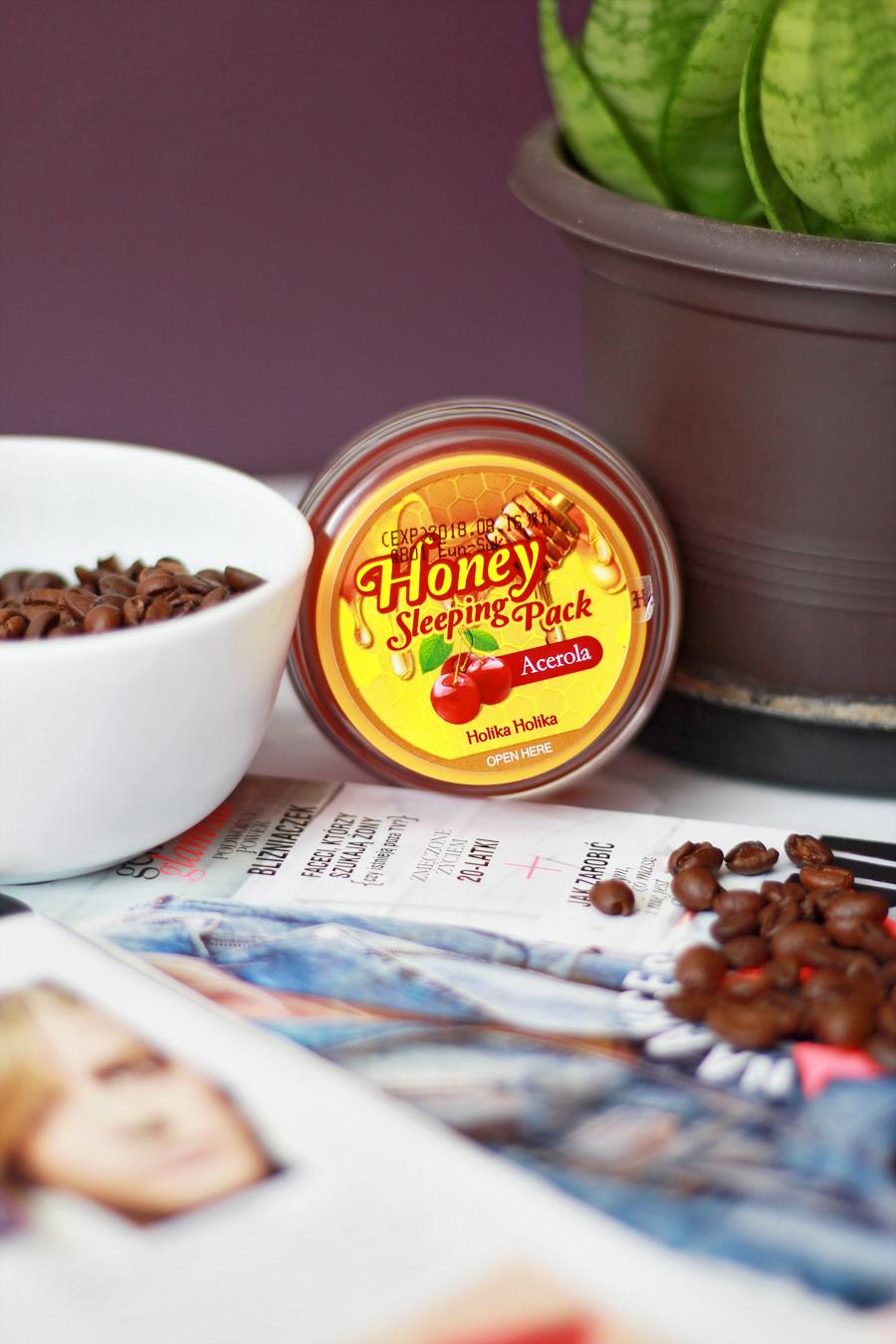 Całonocna, miodowa maseczka | Holika Holika - Honey Sleeping Pack ► Acerola
