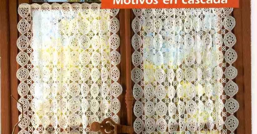 PATRONES GRATIS DE CROCHET: Patrón cortina calada a crochet
