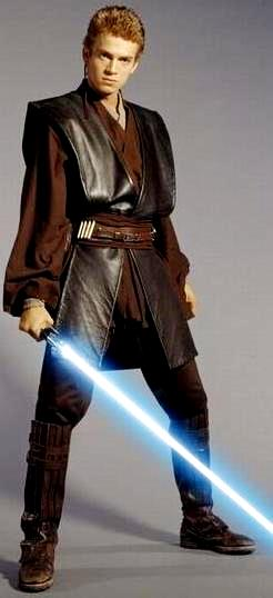 Foto de Anakin Skywalker de Star Wars con su espada