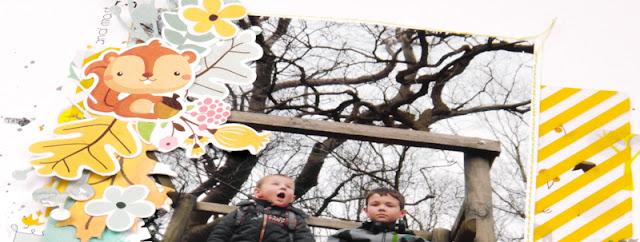 @olgakolov #layout #freestyle #12x12 @scrapberrys #forest_friends