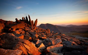 Wallpaper: Glyder Fawr sunset