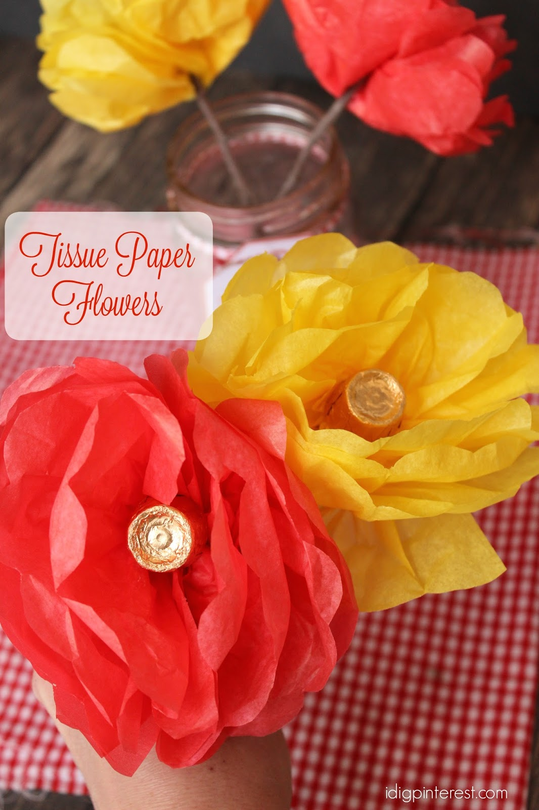 Tissue Paper Chocolate Flower Bouquet An Easy Diy Mothers Day Gift