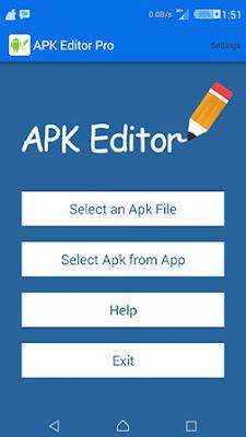 pada kesempatan kali ini admin akan membagikan sebuah aplikasi android mod terbaru yang b APK Editor Pro v1.9.10 Apk Mod Terbaru 2018 Gratis