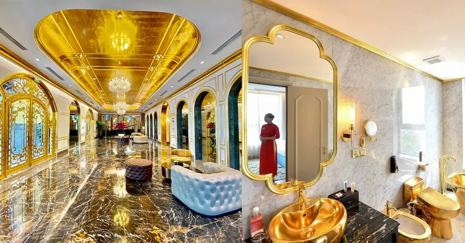 Inside Vietnam boasts the worlds first gold-plated hotel