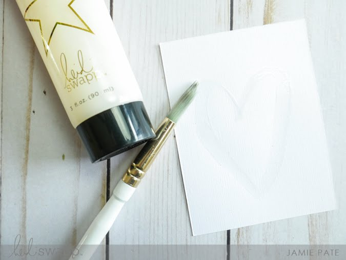How To Use Heidi Swapp Minc Reactive Paint by Jamie Pate | @jamiepate for @heidiswapp