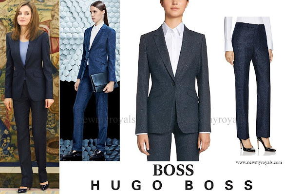 Queen Letizia wore HUGO BOSS Jamoli Pantsuit