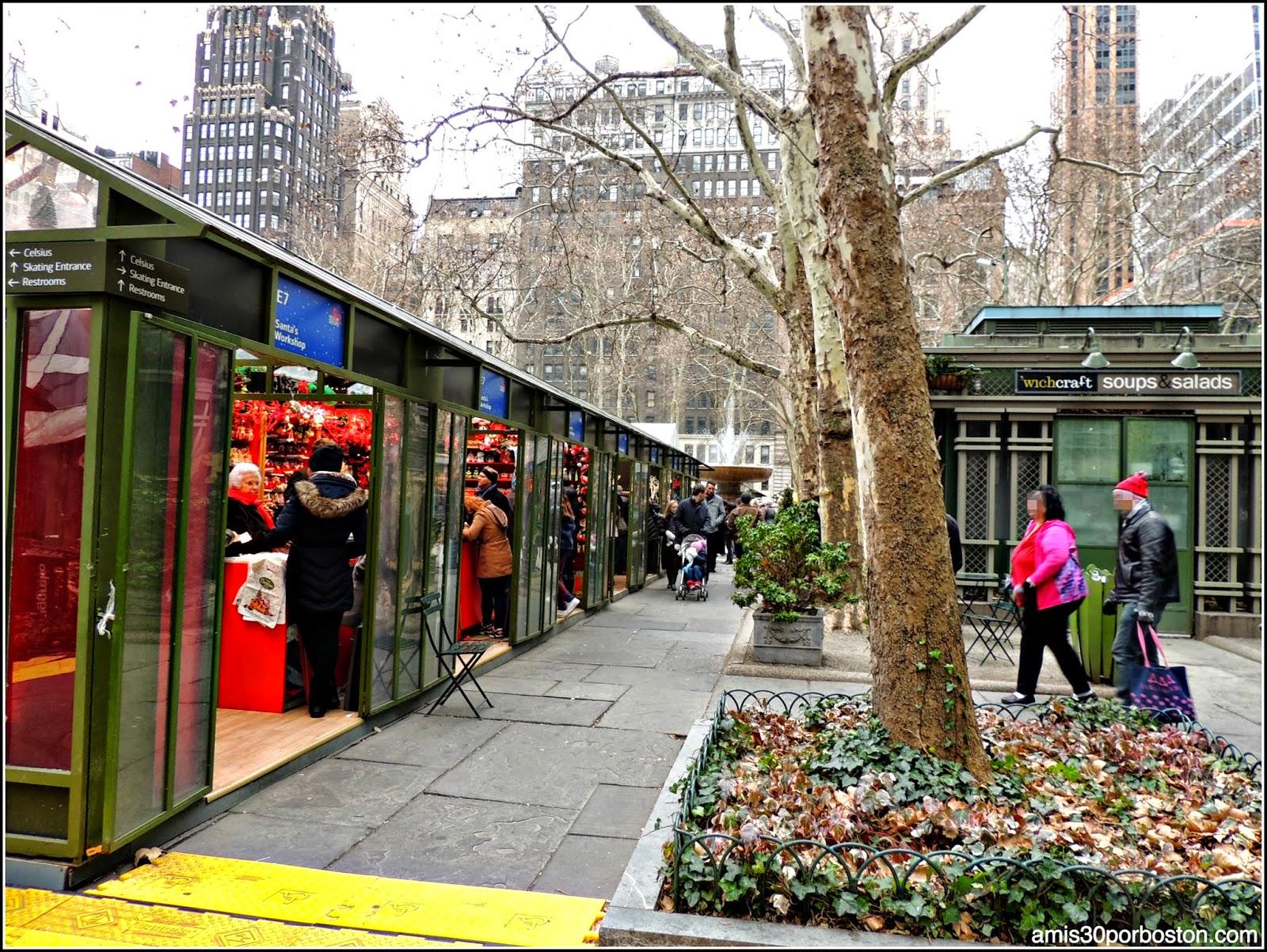 Mercadillos Navideños en Nueva York: Bryant Park