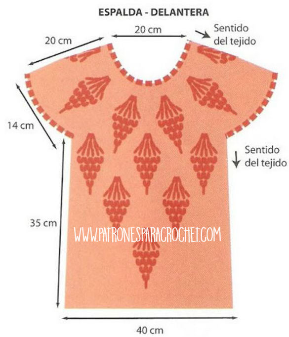 molde blusa crochet